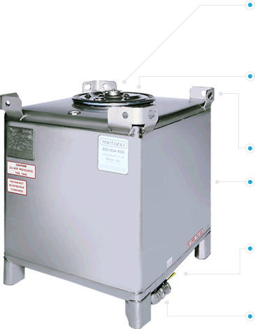 Metano 350-gal Stainless Steel IBC